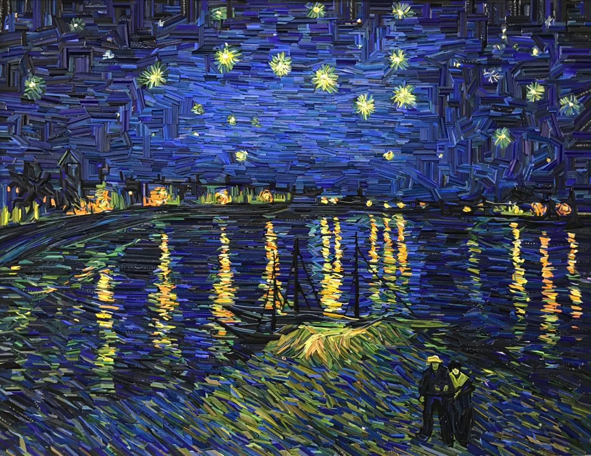Kyu-Hak Lee, Monument - Starry Night Over the Rhône, 2017