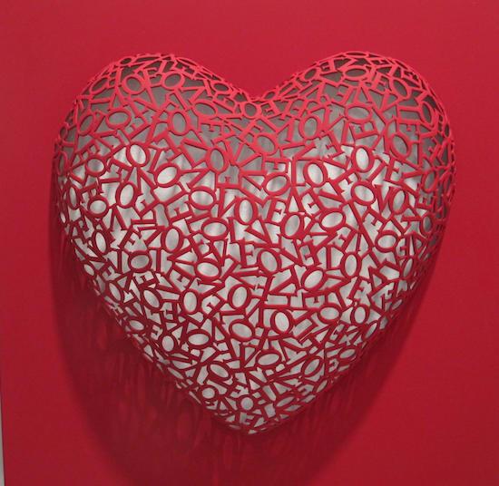 Byung Jin Kim, Love-Love (Red, matte), 2016