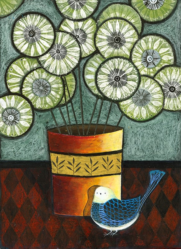 Patricia Davies, Lime Green Petals, 2019