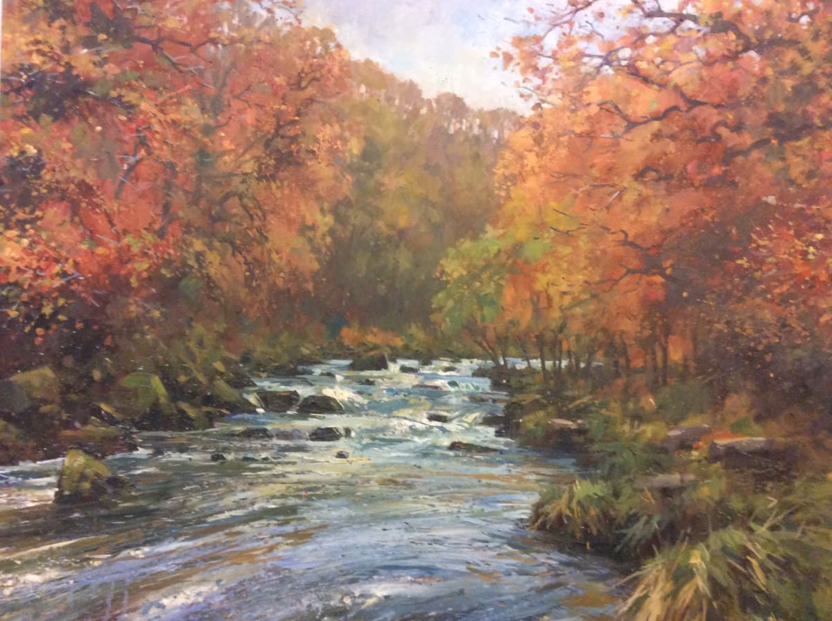 Andrew Miller, Autumn Colours. River Dart, 2019