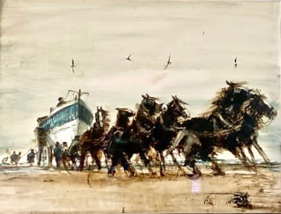 Anthony Amos, Horses Pulling Lifeboat