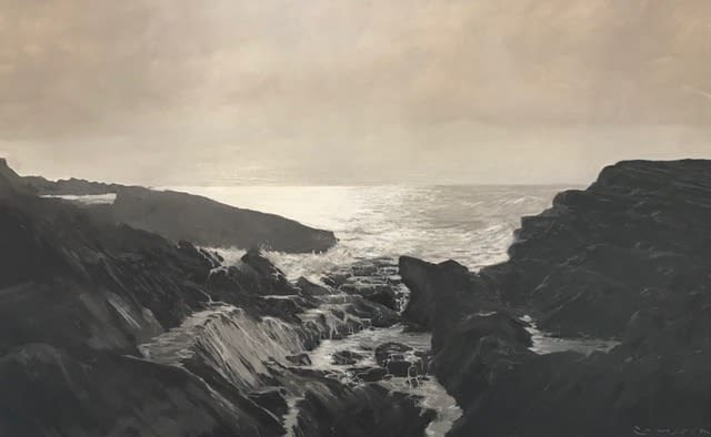 Greg Ramsden, Clear Skies Wild Sea, 2019