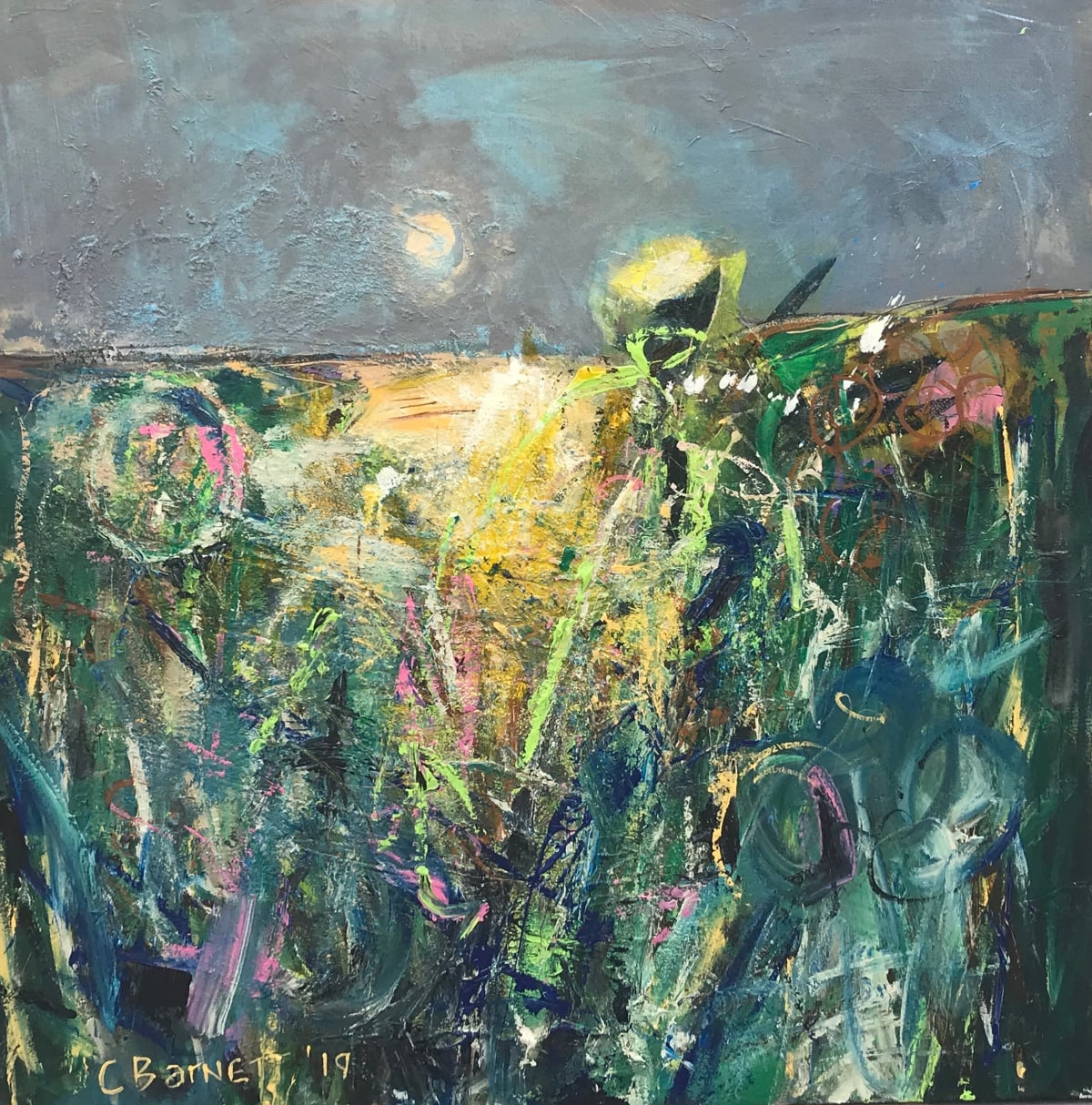 Claire Barnett, Spring on the chase, 2019