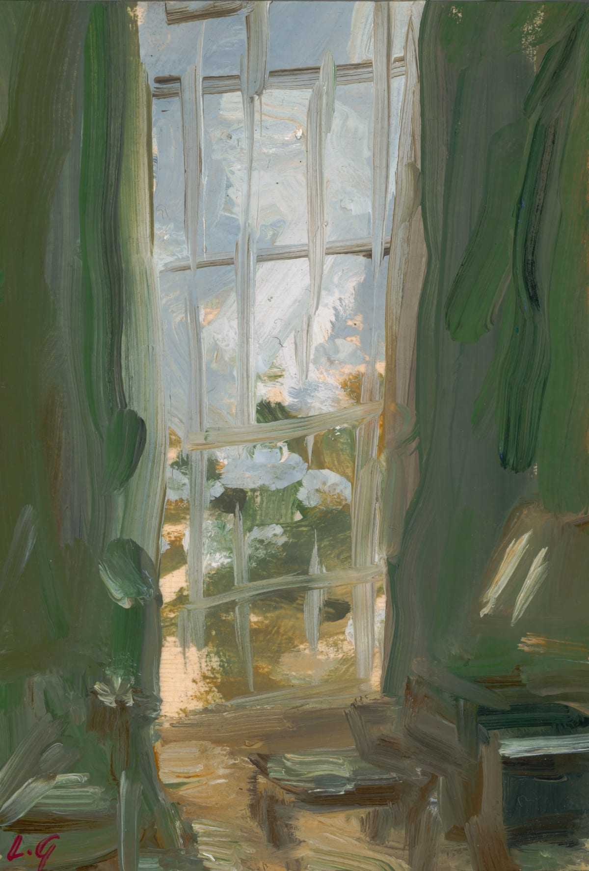 Lindy Guinness, Velvet, Light and Leaves, 2020