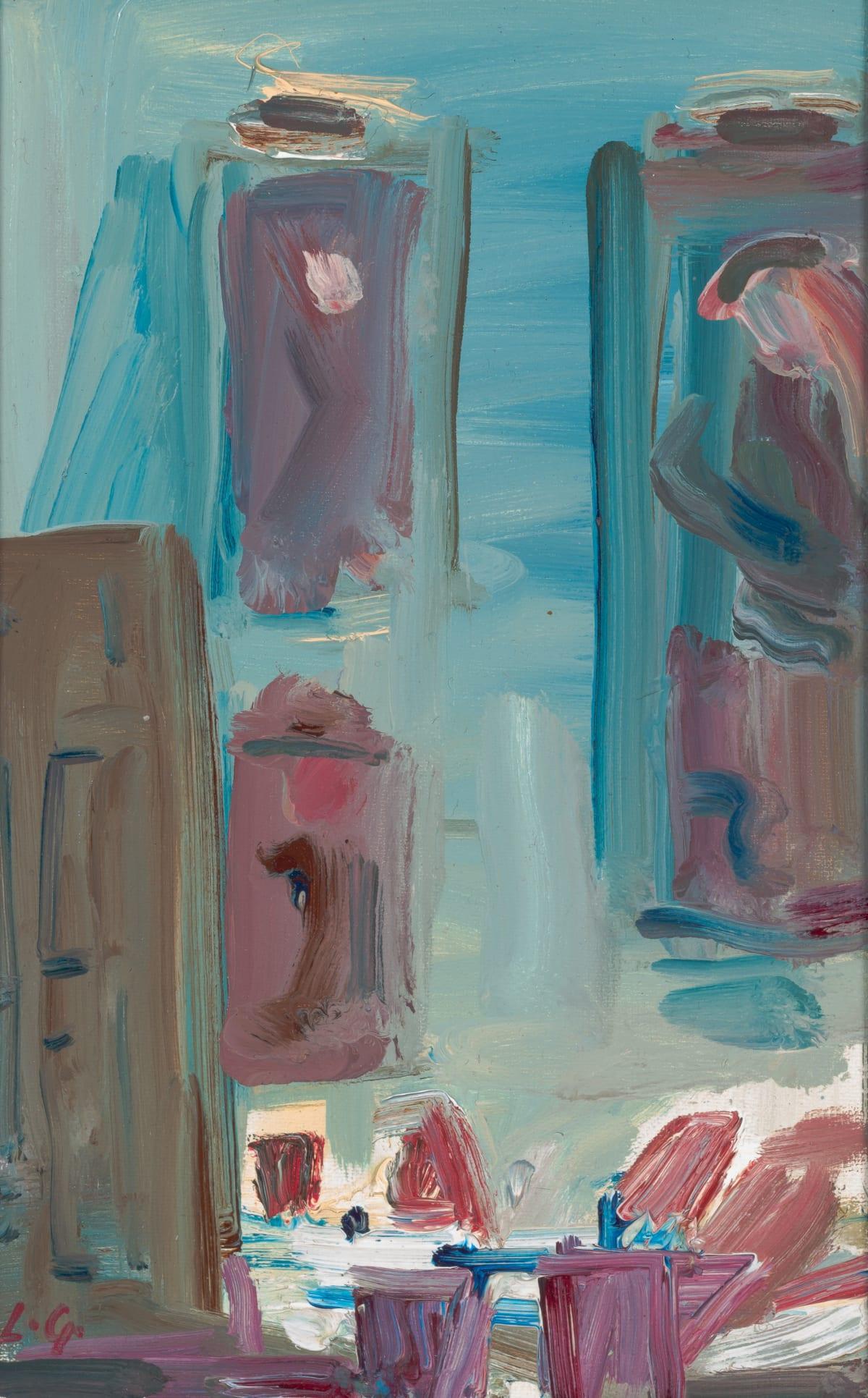 Lindy Guinness, Corner of Blue Light, 2020