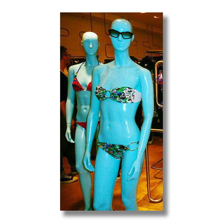 El Portal and Re-Collections: Barneys NY Swimwear and Mural, (commission and collaboration, 2009