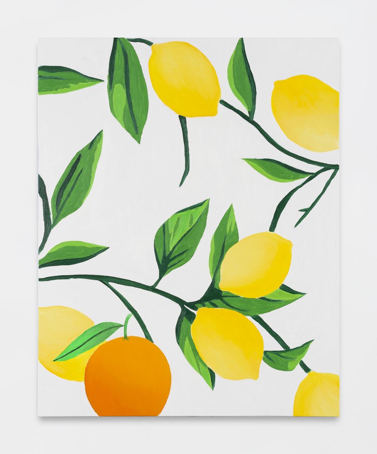 Alec Egan, Lemon Tablecloth with Orange, 2019