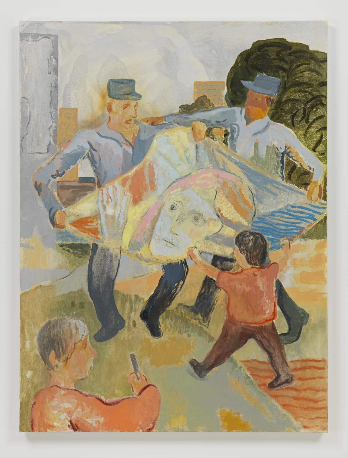 Sam Bornstein, Beach Blanket with Soldiers and Child, 2019