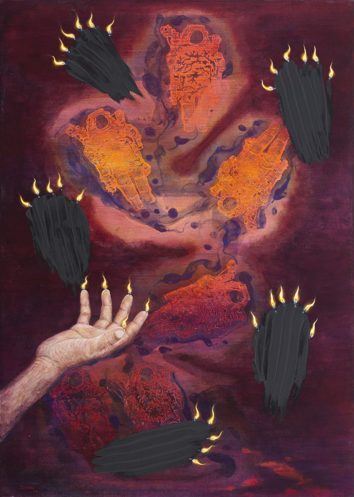 N S Harsha, Which oil I burn while I seek you, 2019