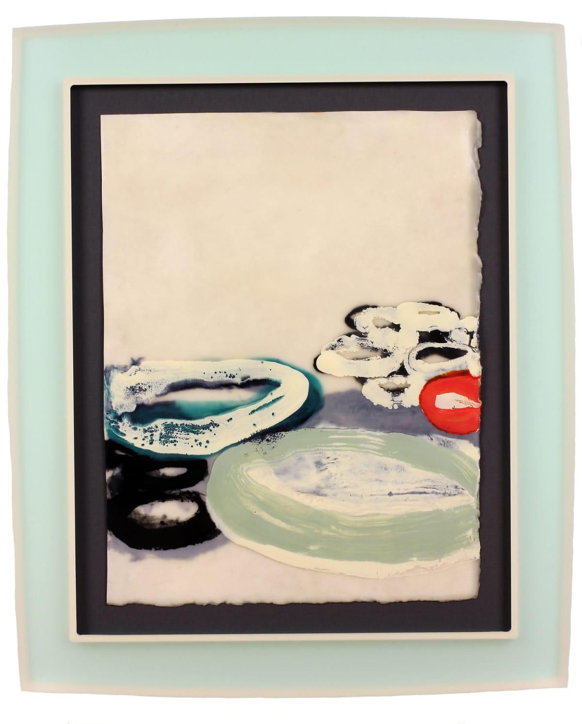 """Kristin Komar All I Want Encaustic on paper 11.25 x 15"""" unframed 16.75 x 20"""" framed"""