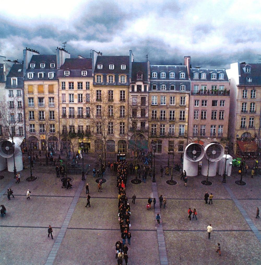 "John Faier Plateau de Beaubourg, Paris Photography 31.25 x 36.5"" framed"