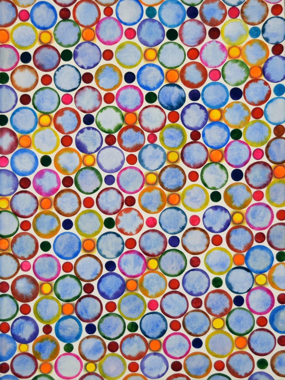 "Deborah Friedman Neon I Watercolor on paper 22.5"" x 30"" unframed 27 x 34.5"" framed"