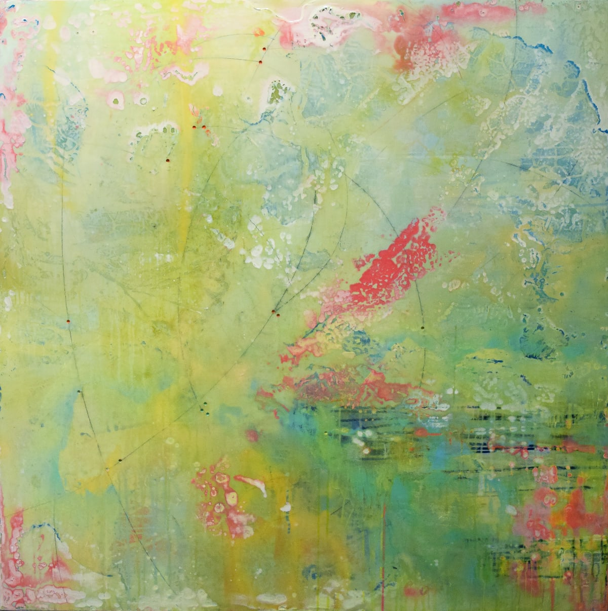 Mary Rousseaux Series 52 #12 Mixed media on panel 48 x 48 unframed