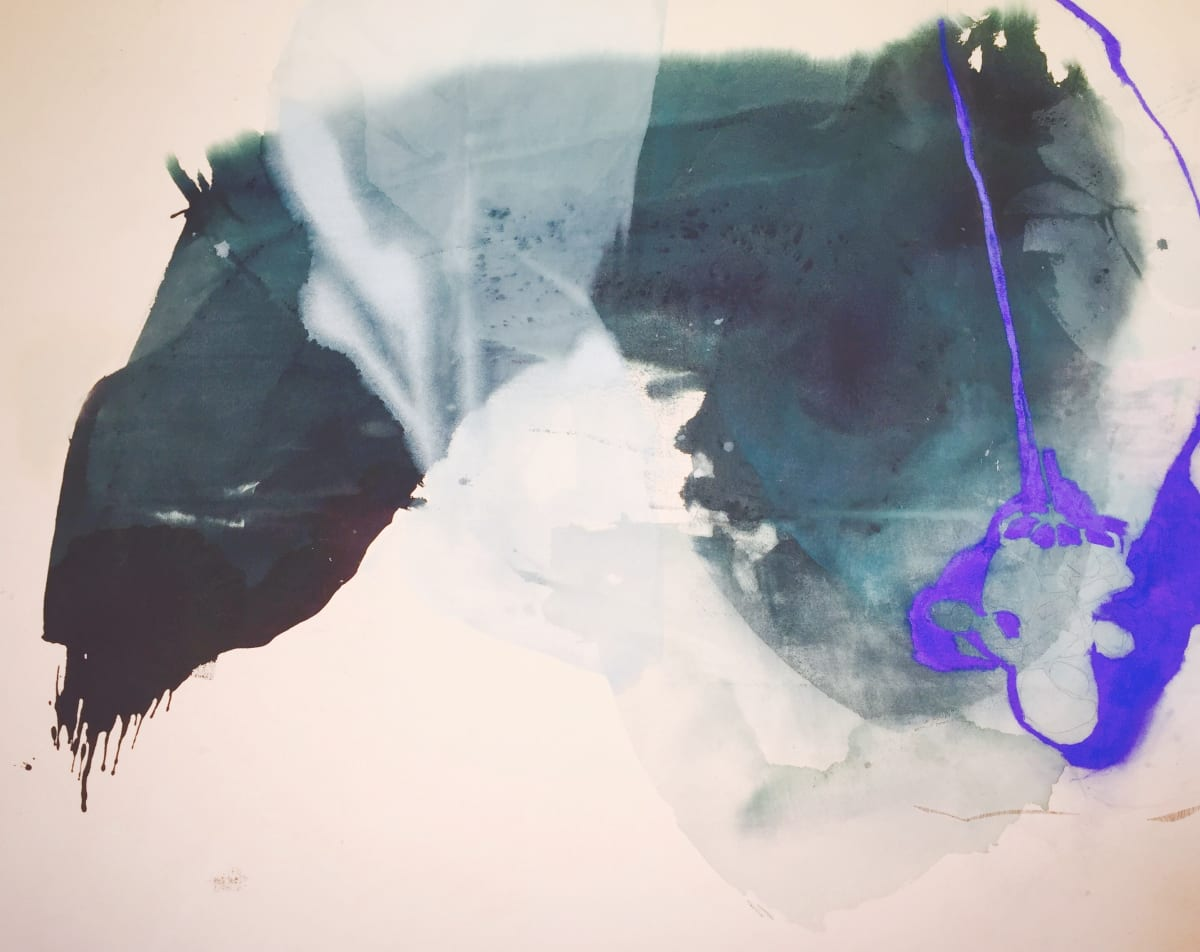 "Melissa Herrington Eternal Blue of Cerulean Skies Mixed Media on Canvas 72 x 60"" unframed"