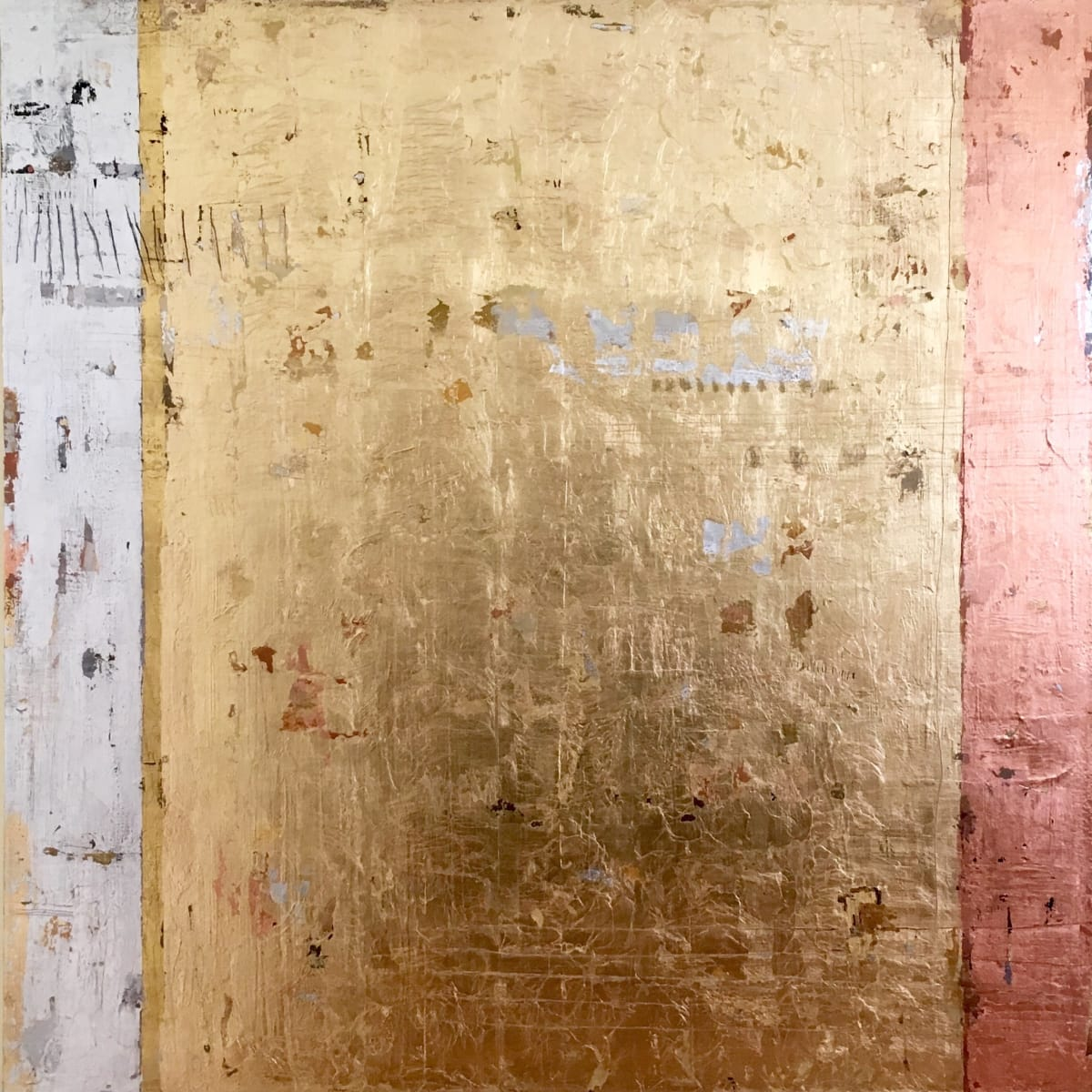 Takefumi Hori Gold No. 57 Mixed media on canvas 48 x 48 unframed