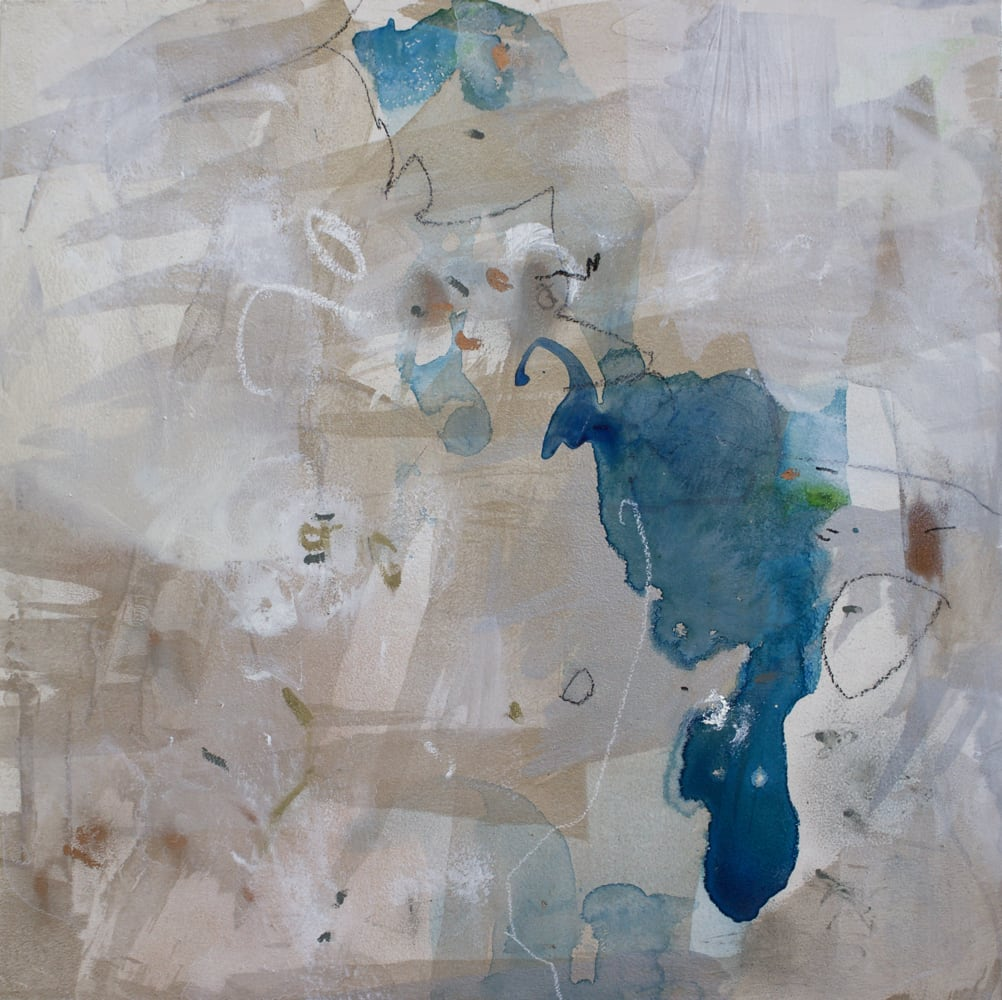 "Ahavani Mullen Seedling No. 4 Mixed Media on panel 12 x 12"" unframed"