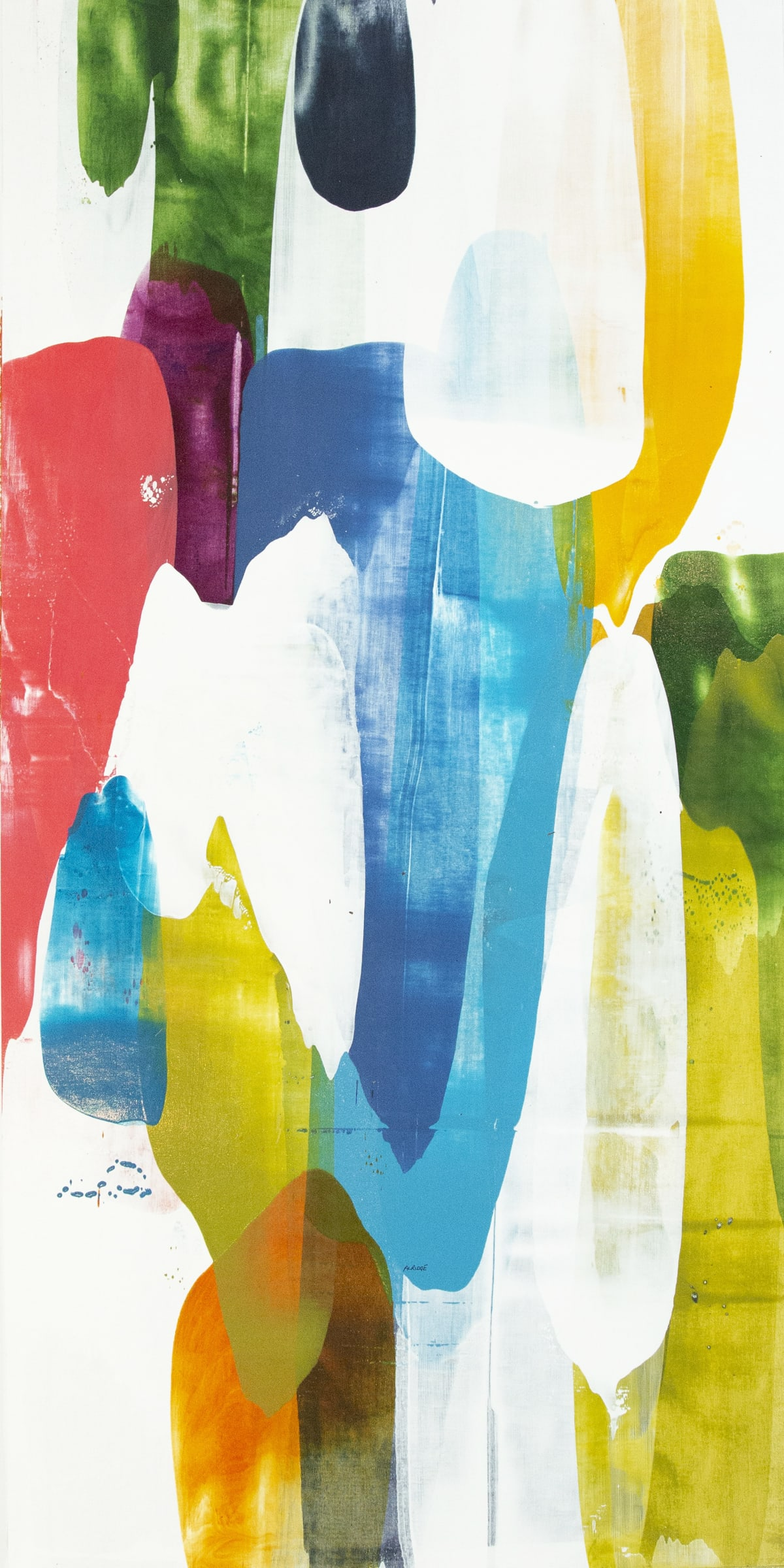 "Alridge Deep Spirit II Acrylic on Canvas 30 x 60"" unframed 32 x 62"" framed"