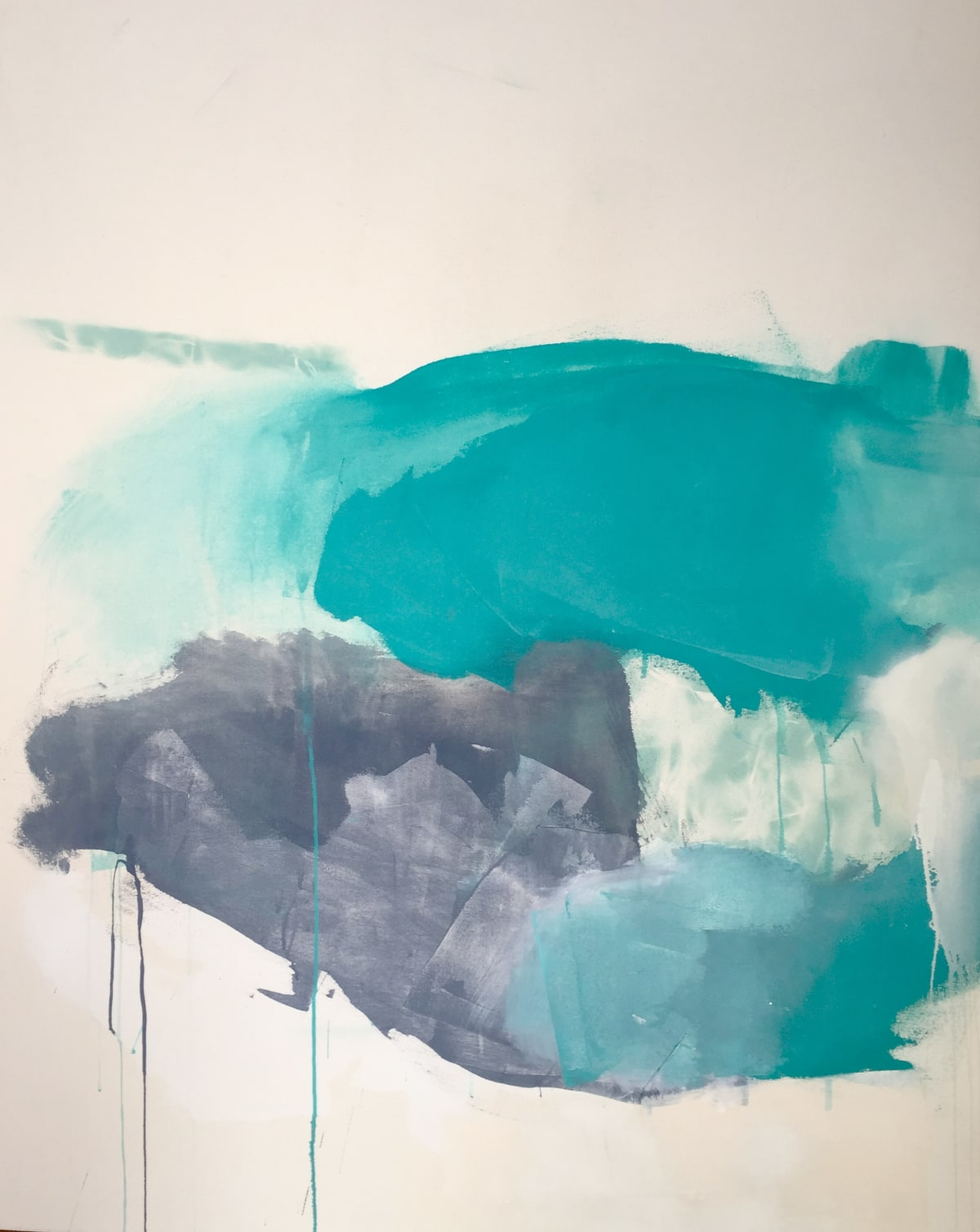 Melissa Herrington I Breathe In Your Ocean. Winged Silhouettes Fly IV Mixed Media on Canvas
