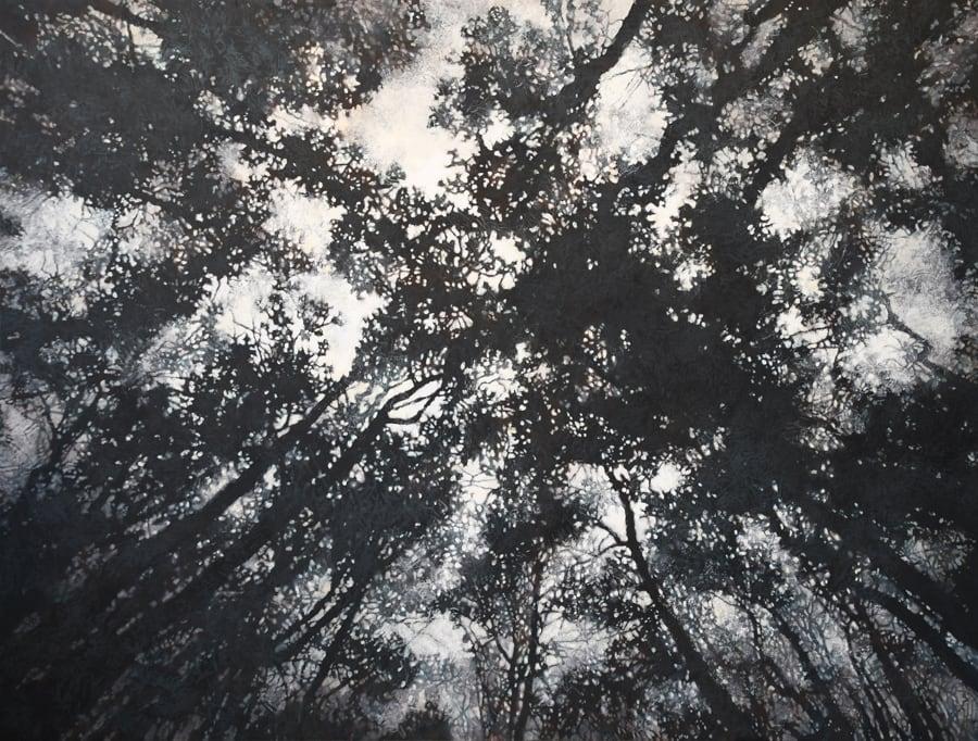 "Gosia Podosek Convergence I Oil on canvas 66 x 50"" unframed"