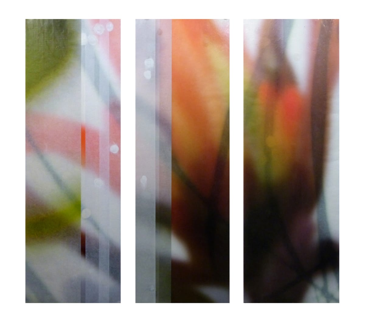 "Jane Guthridge The Space Between 20 (triptych) Mixed media on paper 36 x 36"" unframed"