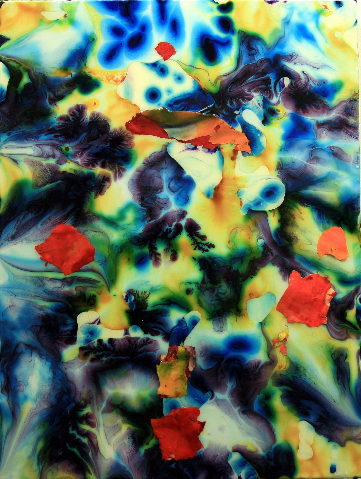 "John Koehler Untitled I Mixed media on panel 18"" x 24"" unframed 19.75 x 25.75"" framed"