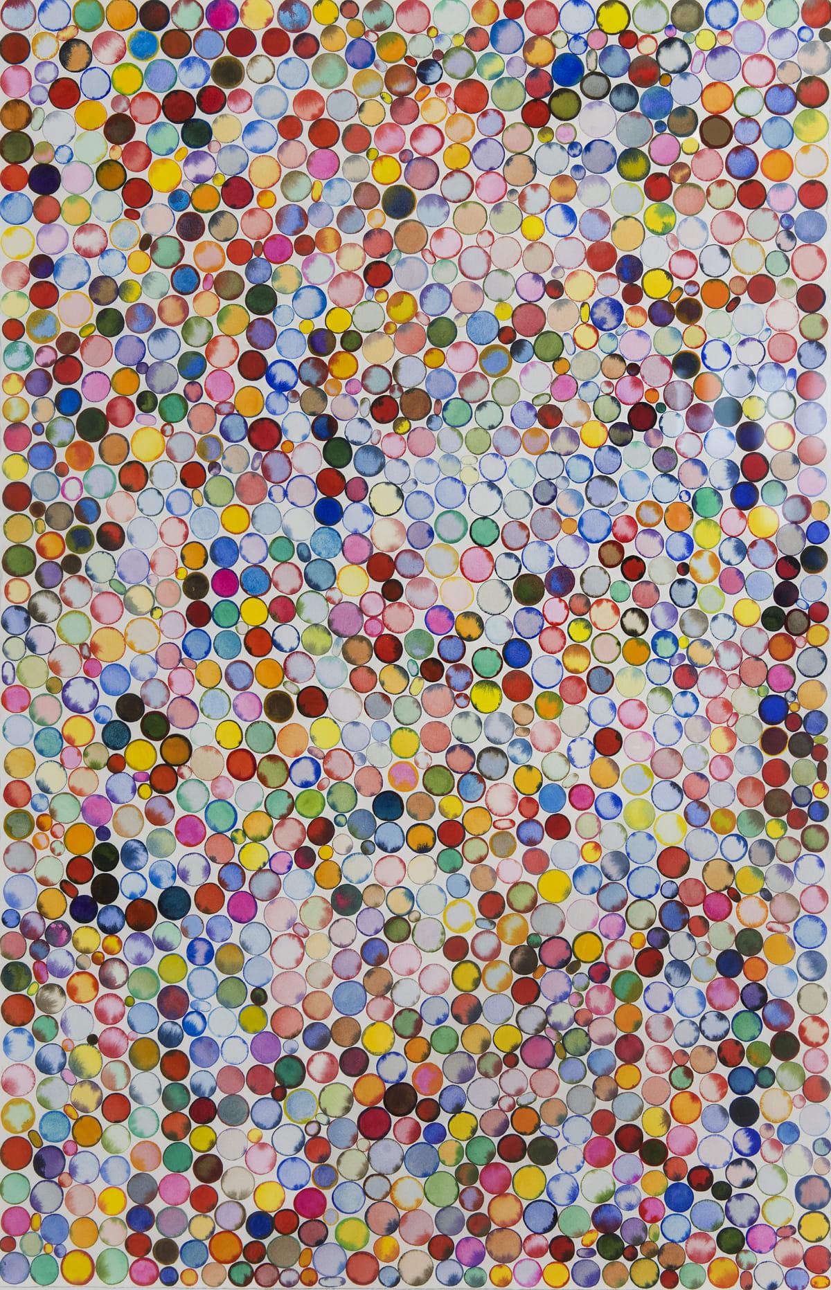 "Deborah Friedman Diversity I Watercolor on paper 26 x 40"" unframed 32.25 x 46"" framed"