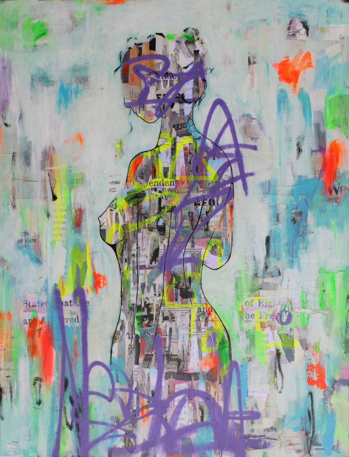 "Ridgers & Cobz Romantic Memoirs II Acrylic on canvas 39"" x 50"" framed"
