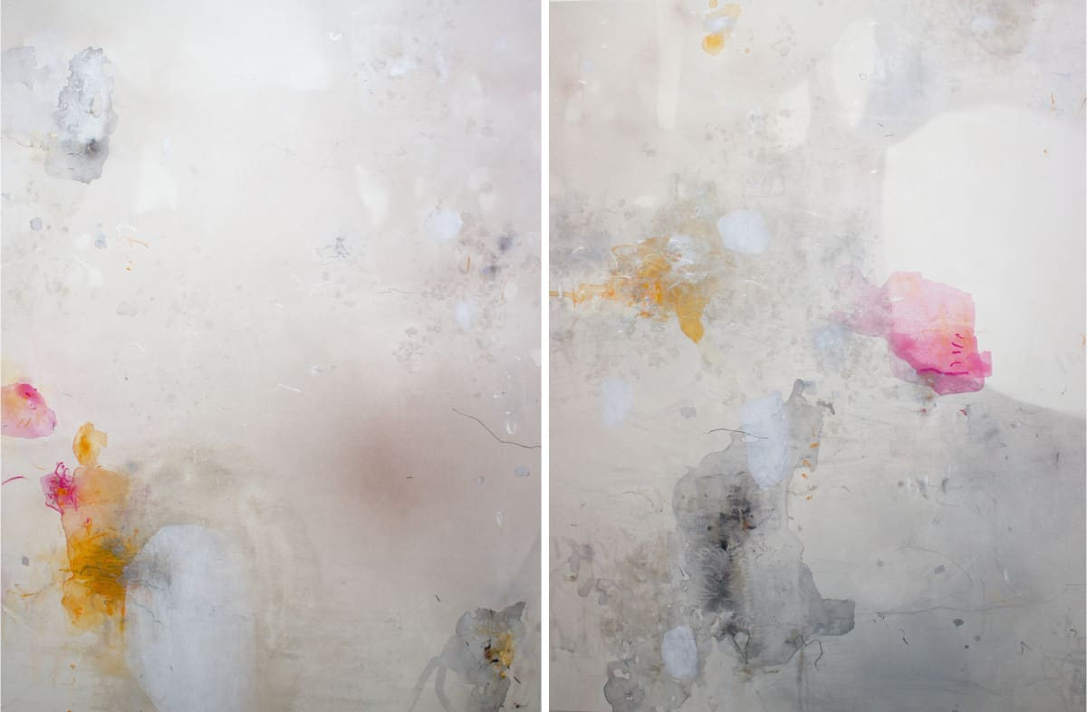 "Ahavani Mullen Friendship with the Unknown (Diptych), 2019 Mixed Media on canvas 100 x 65"" unframed"