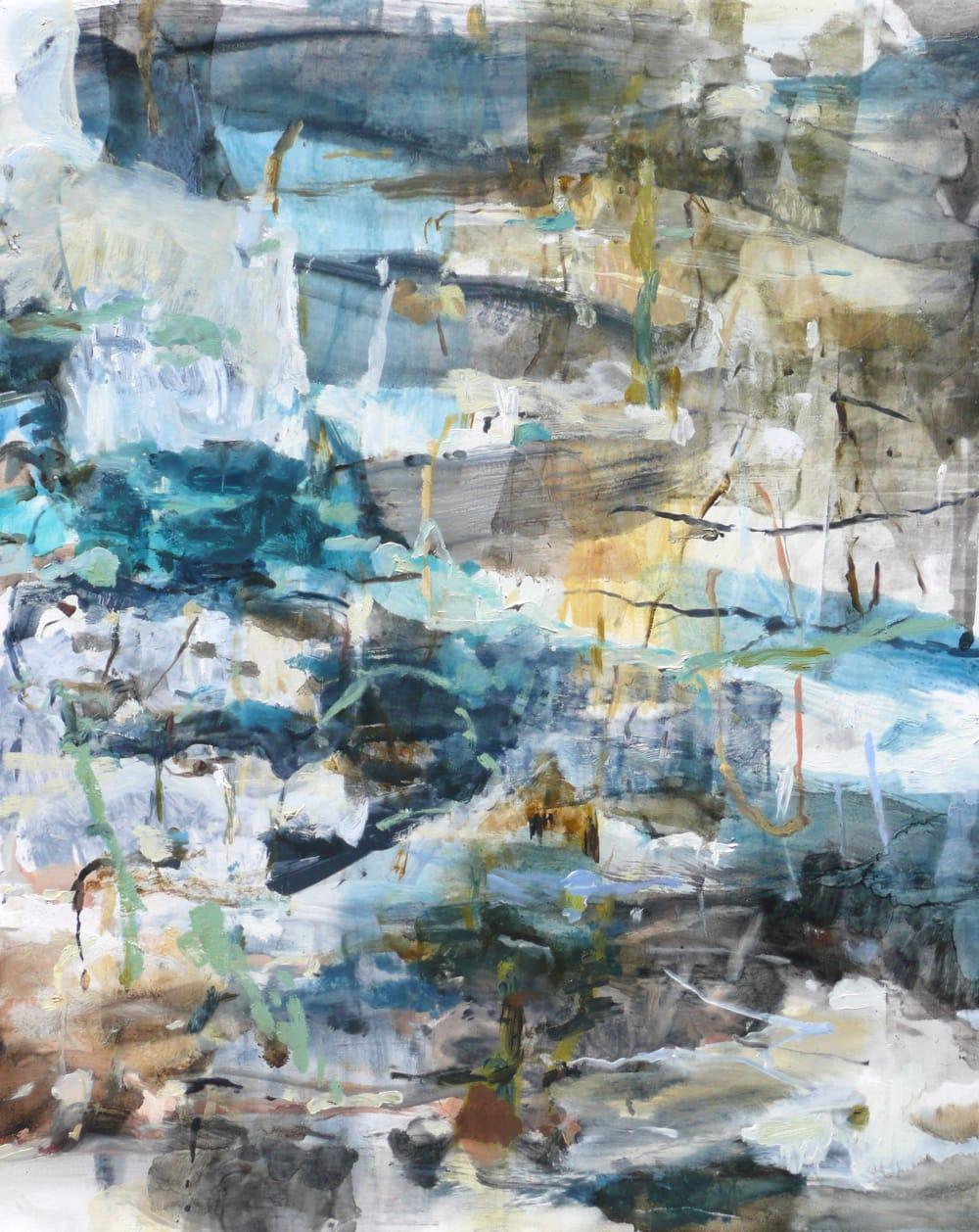 """Karl Pilato May Blue Oil on panel 16 x 20"""" unframed"""