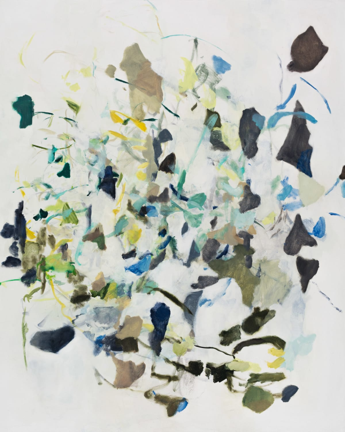 """Karl Pilato Settling Into Birds Oil on Canvas 42 x 52"""" unframed"""