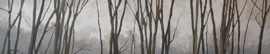 "Gosia Podosek Trees 1 Oil on canvas 70 x 14"" unframed"