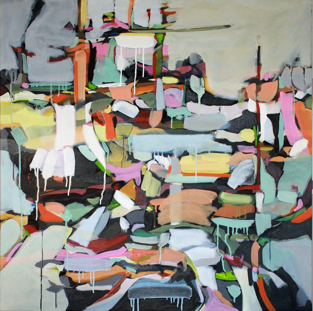 "Glynis Tinglof New Territories III Acrylic on canvas 36 x 36"" unframed"