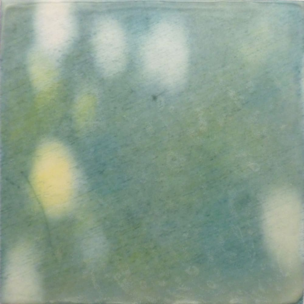 "Jane Guthridge The Color of the Sky Reflected on Water 2 Archival Inkjet, Encaustic, and Prismacolor on Panel 12 x 12"" unframed"