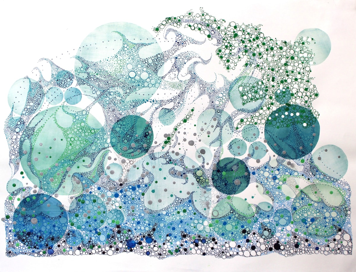 Ruth Hamill Reaching Intaglio and calligraphy inks, gouache and watercolor on paper 30 x 22 unframed