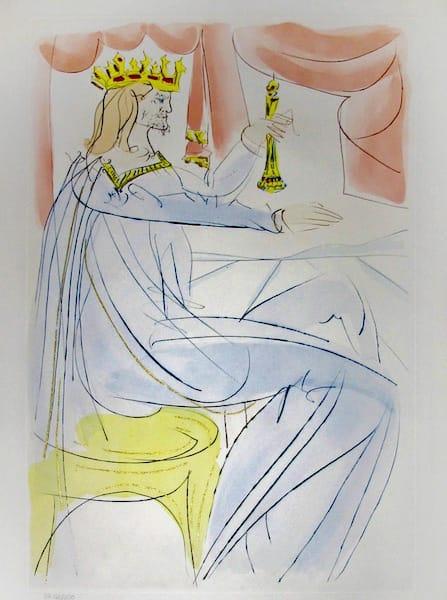 Salvador Dali, King David, 1975