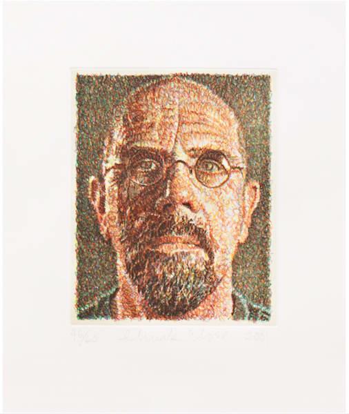 Chuck Close, Self Portrait, 2001