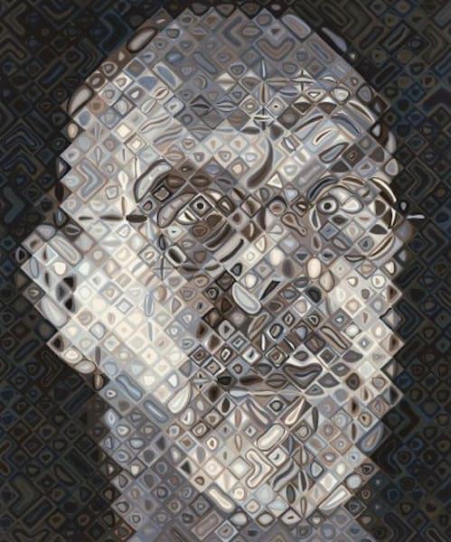 Chuck Close, Self-Portrait Woodcut, 2007