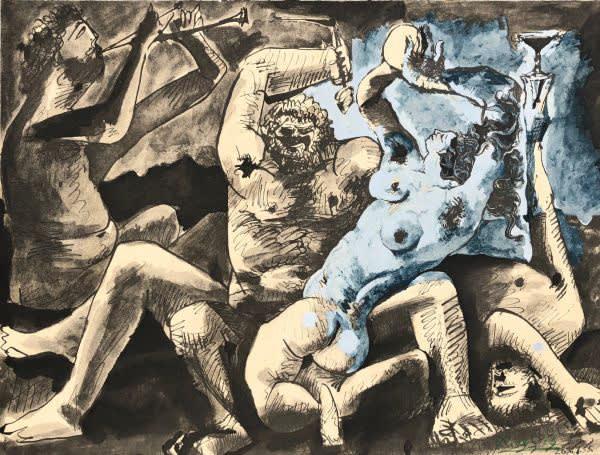 Pablo Picasso, Bacchanale II, 1967