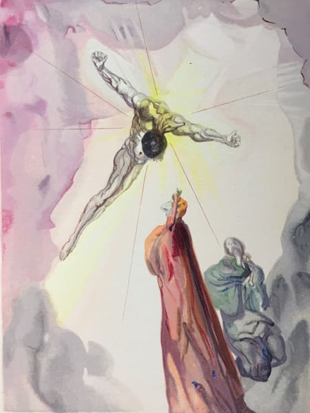 Salvador Dali, Apparition of Christ (Paradise), 1960