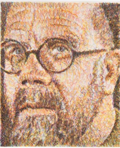 Chuck Close, Self Portrait, (Three Quarter), 2000