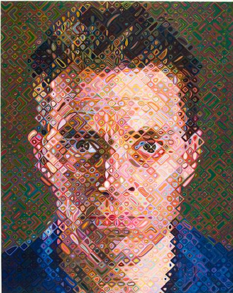 Chuck Close, James, 2004