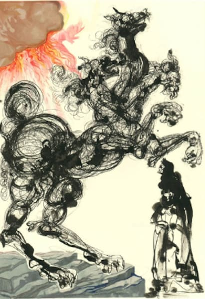 Salvador Dali, Cerburus (Inferno), 1960