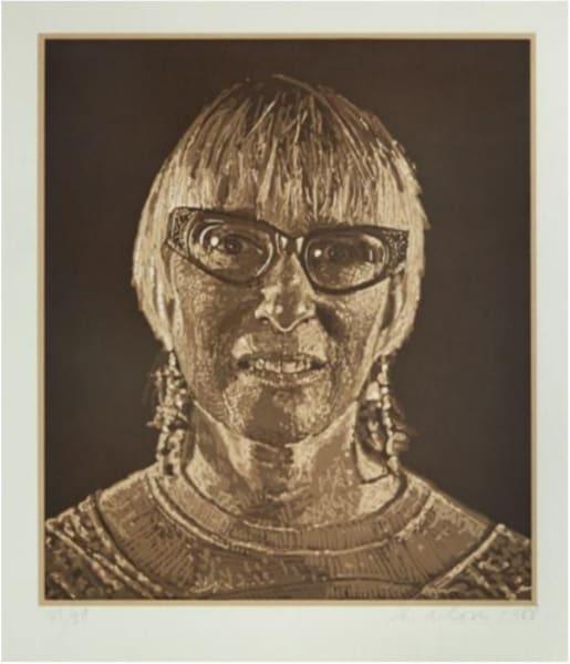 Chuck Close, Janet, 1988