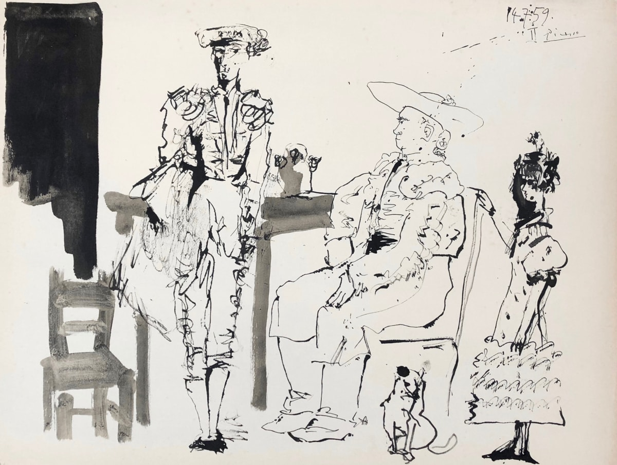Pablo Picasso, Le Picador Attable, 1960