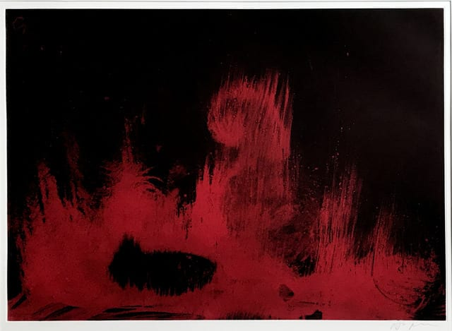 Sir Anish Kapoor No Title 2000, 2002 Original Etching, in colours, on support paper, signed by the artist in pencil 43 x 38 cm 16 7/8 x 15 in The total edition was of 30 proofs of which 12 were bound as books and 18 were presented in boxed portfolios from which our examples comes