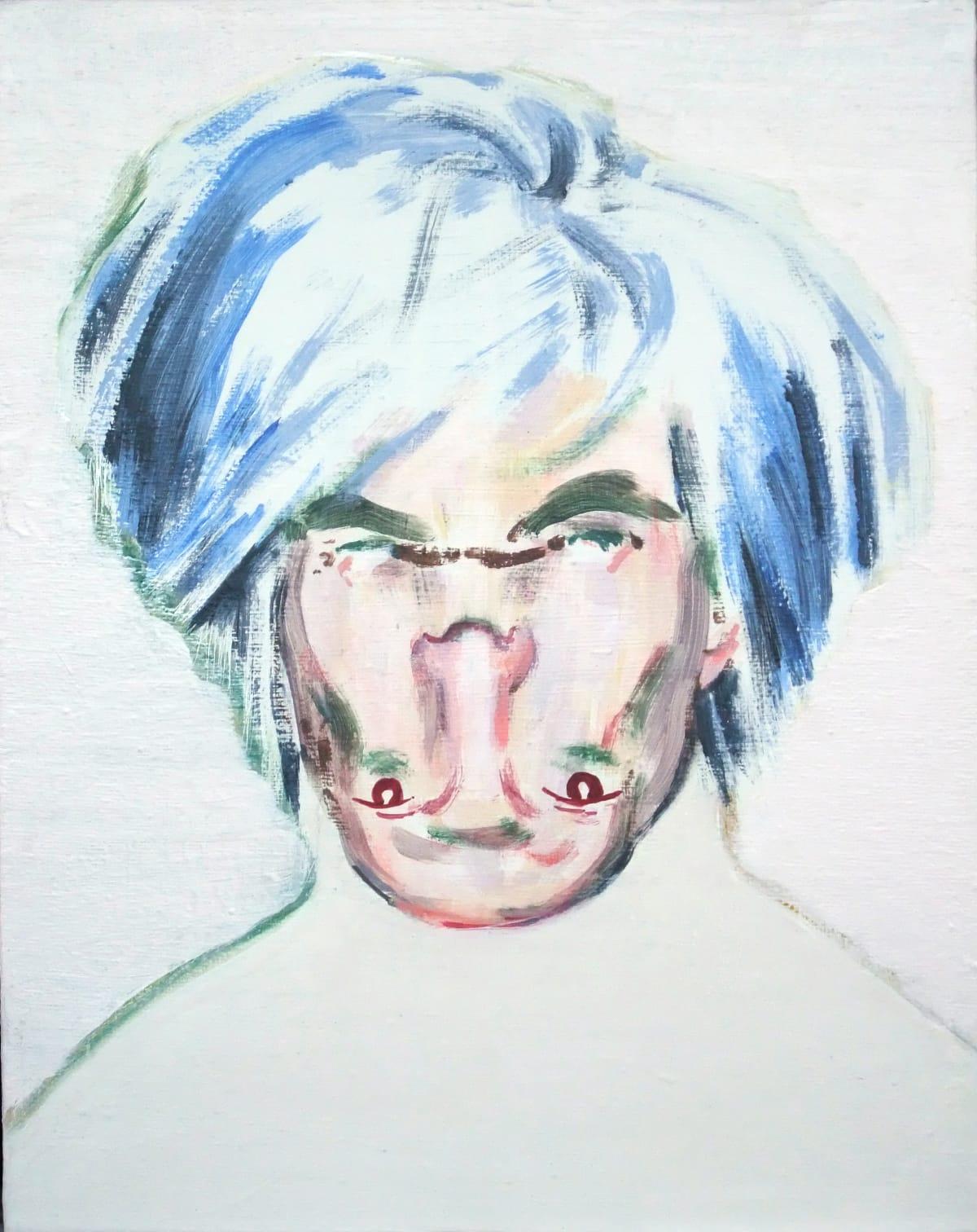 Darren Coffield Shockheaded Warhol I [Study], 2010 Acrylic on canvas 39 x 32 cm 15 3/8 x 12 5/8 in