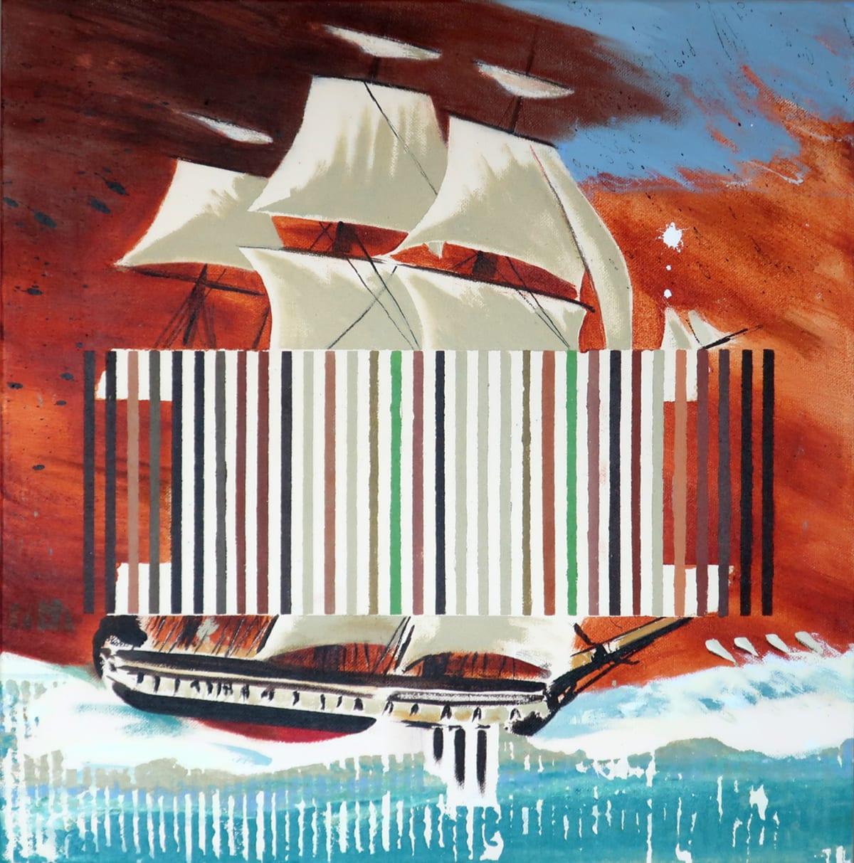 Darren Coffield The Flying Dutchman, 2019 Acrylic on canvas 40 x 40 cm