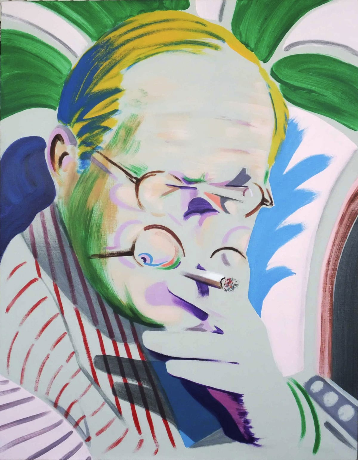 Darren Coffield Hockney Takes a Breather II , 2012 Acrylic on canvas 77 x 60 cm 30 1/4 x 23 5/8 in