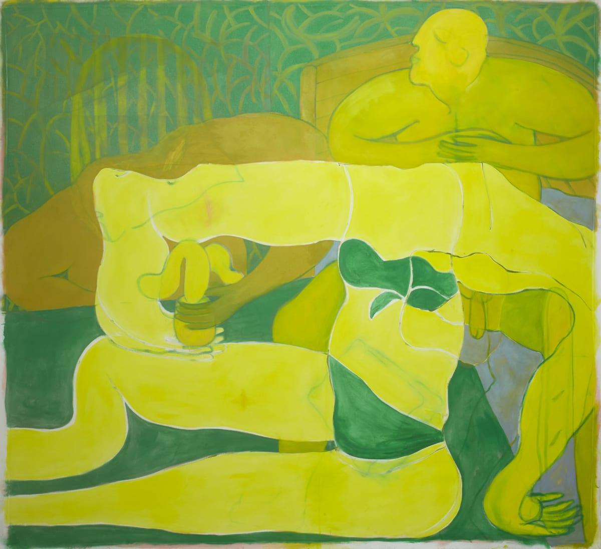 Tahnee Lonsdale Posing Yellow Figure, 2018 oil on canvas 190 x 210 cm 74 3/4 x 82 5/8 in