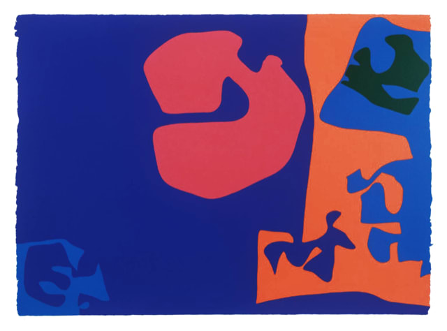 Patrick Heron January 1973 : Plate 17, 1973 Original screenprint, 1973, in colours, signed and dated by the artist in pencil, verso is the Publishers stamp K8086 and written in pencil an archive number 82.100 Image: 58.6 x 81.4 cm Sheet: 92.3 x 68 cm Framed: 88 x 111.9 cm Edition 45 of 72, plus unknown number of AP